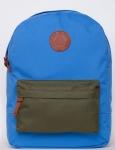 купить Рюкзак GiN Bronx голубой с карманом хаки цена, отзывы