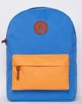 купить Рюкзак GiN Bronx голубой с оранжевым карманом цена, отзывы