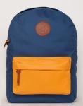 купить Рюкзак GiN Bronx неви с оранжевым карманом цена, отзывы