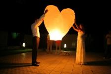 купить Небесный фонарик в форме сердца цена, отзывы