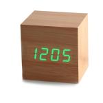 купить Часы будильник дерево wood clock green цена, отзывы