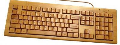 купить Клавиатура бамбуковая русифицированная цена, отзывы