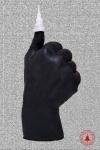 купить Свеча в виде руки Like черная с белой елкой цена, отзывы