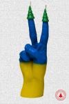 купить Свеча в виде руки Victory флаг Украины цена, отзывы