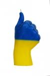 купить Свеча в виде руки Like флаг Украины цена, отзывы