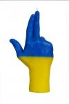 купить Свеча в виде руки GUN флаг Украины цена, отзывы