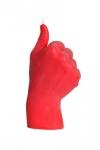 купить Свеча красная в виде руки Like цена, отзывы