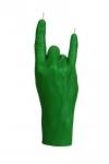 купить Свеча в виде руки Коза зеленая цена, отзывы