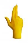 купить Свеча желтая в виде руки GUN цена, отзывы