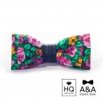 купить Галстук-бабочка цветущая весна Текстиль + кожа цена, отзывы