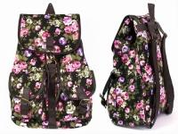 купить Рюкзак Холщовый Pattern цветущие Пионы цена, отзывы