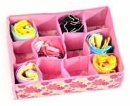 купить Органайзер для хранения белья и носков розовый цена, отзывы