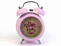 купить Будильник Совы Нежно-Розовый 12,5 см цена, отзывы