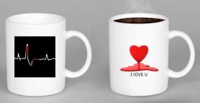 купить Чашка хамелеон HEARTBEAT Биение сердца цена, отзывы