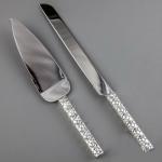 купить Нож и лопатка для торта Косичка цена, отзывы