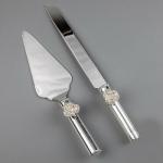 купить Нож и лопатка для торта Розочки цена, отзывы