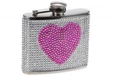 купить Фляга  сердечко - гламур жемчужная цена, отзывы
