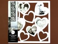 купить Фоторамка hearts white цена, отзывы