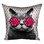 купить Подушка кот в очках  цена, отзывы