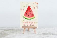 купить Открытка Happiness is choice цена, отзывы