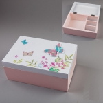 купить Шкатулка Бабочки 20х13х8 см цена, отзывы