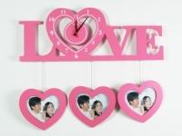 купить Часы настенные Love розовые цена, отзывы