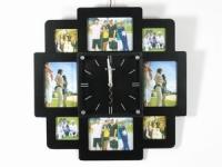 купить Часы настенные семейные на 8 фото черные цена, отзывы