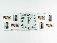 купить Часы настенные Семейные воспоминания на 8 фото белые цена, отзывы
