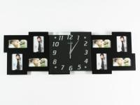 купить Часы настенные Семейные воспоминания на 8 фото черные цена, отзывы