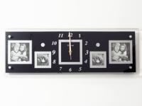 купить Часы настенные Семейные воспоминания на 4 фото черные цена, отзывы