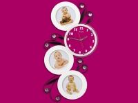 купить Часы настенные Круглая змейка на 3 фото белые цена, отзывы