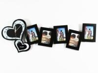 купить Часы настенные Сердечки на 5 фото черные цена, отзывы