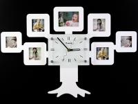 купить Часы настенные семейное дерево на 7 фото белые цена, отзывы