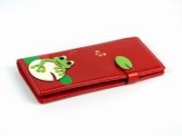 купить Женский кошелек с жабкой красный цена, отзывы