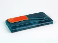 купить Женский кошелек Хоской (синий-красный) цена, отзывы