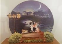 купить Светильник 2 кота на скамейке цена, отзывы