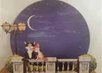 купить Светильник 2 кота на заборе цена, отзывы