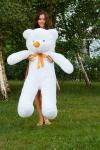 купить Мишка Тедди 140 см Белый цена, отзывы