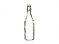 купить HM Бутылка стеклянная с керамической пробкой и зажимом 500 мл (26 см) цена, отзывы