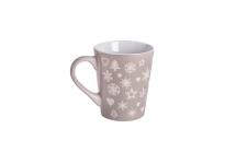 купить Новогодняя чашка Елочки-снежинки цена, отзывы