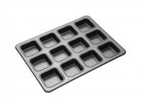 купить MC NS Противень для выпечки квадратных брауни с антипригарным покрытием (12 отверстий) 34см х 26см цена, отзывы