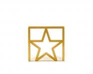 фото 9875  Держатель для книг Звезда золото цена, отзывы