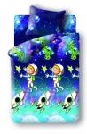 купить Постельное белье детское полуторное Непоседа Космонавт цена, отзывы