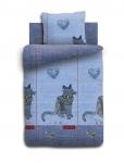 купить Комплект постельного белья полуторный For You Джинсовый кот цена, отзывы