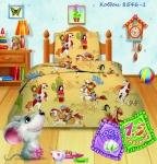 купить Комплект постельного белья полуторный Кошки-мышки Ковбои цена, отзывы