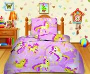 купить Комплект постельного белья полуторный Кошки-мышки Лошадки цена, отзывы