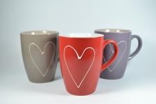 купить Чашка керамическая Сердце цена, отзывы