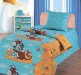 купить Комплект постельного белья полуторный Союзмультфильм Матроскин и Гаврюша цена, отзывы
