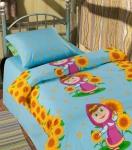 купить Комплект постельного белья полуторный Маша и Медведь Первая встреча цена, отзывы