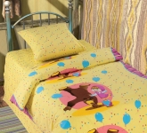 купить Комплект постельного белья полуторный Маша и Медведь Цирк цена, отзывы